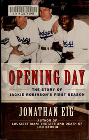 Cover of: Opening Day | Jonathan Eig