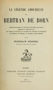 La légende amoureuse de Bertran de Born by Stanisław Stroński