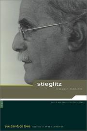 Cover of: Stieglitz: A Memoir/Biography