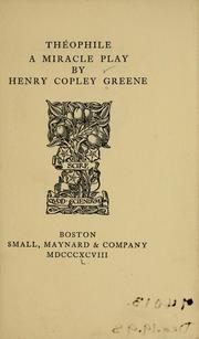 Cover of: Théophile | Henry Copley Greene