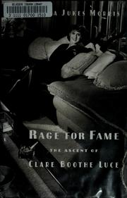 Cover of: Rage for fame | Sylvia Jukes Morris