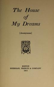 Cover of: The house of my dreams |