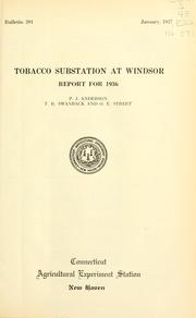 Cover of: Tobacco Substation at Windsor | P. J. Anderson
