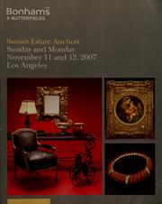 Cover of: Sunset estate auction |