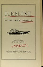 Cover of: Iceblink | Rutherford George Montgomery