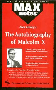 Cover of: The Autobiography of Malcolm X as told to Alex Haley (MAXNotes Literature Guides)