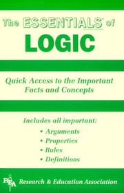 Cover of: The essentials of logic