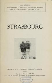 Cover of: Strasbourg by