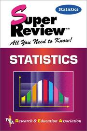 Cover of: Statistics Super Review | The Staff of Research & Education Association