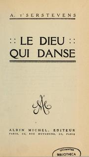 Cover of: Le dieu qui danse | A. T'Serstevens