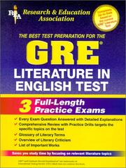 Cover of: The best test preparation for the GRE literature in English |
