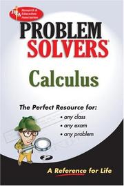 Cover of: Calculus Problem Solver (REA) (Problem Solvers)