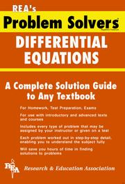 Cover of: The differential equations problem solver