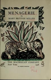 Cover of: Menagerie by Miller, Mary Britton