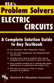 Cover of: Electric Circuits Problem Solver (Problem Solvers)