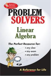Cover of: Linear Algebra Problem Solver (REA) (Problem Solvers)