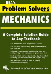 Cover of: The mechanics problem solver