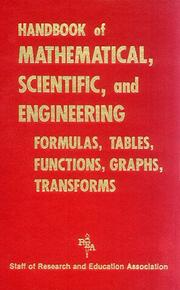 Cover of: Handbook of mathematical, scientific, and engineering formulas, tables, functions, graphs, transforms