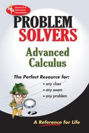Cover of: Advanced Calculus Problem Solver (REA) (Problem Solvers)