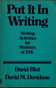 Cover of: Put it in writing | Dave Blot