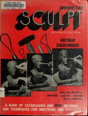 Cover of: Anyone can sculpt