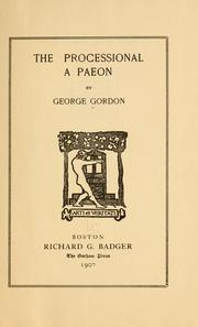 Cover of: The processional | George Gordon