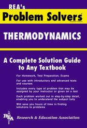 Cover of: The thermodynamics problem solver
