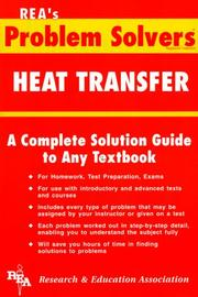 Cover of: Heat Transfer Problem Solver (Problem Solvers)