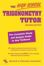 Cover of: High School Trigonometry Tutor (High School Tutors)