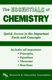 Cover of: The essentials of chemistry |
