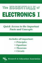 Cover of: Essentials of Electronics I (Essentials) | Research & Education Association