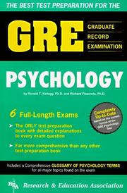 Cover of: The best test preparation for the GRE, Graduate Record Examination in psychology