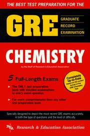 Cover of: The best test preparation for the GRE, graduate record examination, in chemistry