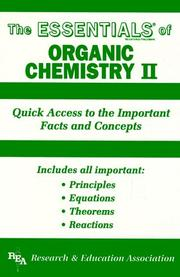 Cover of: The Essentials of Organic Chemistry, No. 2 (Essentials)
