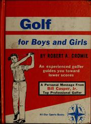 Cover of: Golf for boys and girls | Cromie, Robert