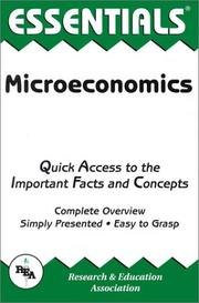 Cover of: The Essentials of microeconomics