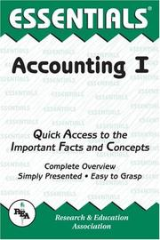 Cover of: The essentials of accounting I | Duane R. Milano