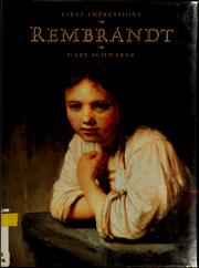 Cover of: Rembrandt | Gary Schwartz