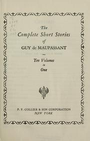 Short stories by Guy de Maupassant