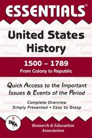 Cover of: Essentials of Us History 1500-1789 (Essentials)