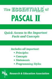 Cover of: The Essentials of Pascal | Research & Education Association