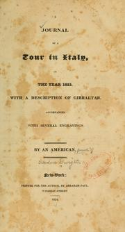 A journal of a tour in Italy, in the year 1821.