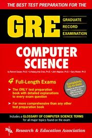 Cover of: Gre Computer Science | Research & Education Assoc. Staff