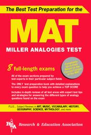 Cover of: The best test preparation for the MAT