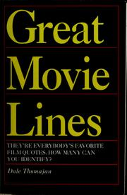 Cover of: Great movie lines | Dale Thomajan