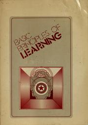 Cover of: Basic principles of learning
