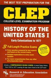 Cover of: CLEP History of the United States I (REA)- The Best Test Prep for the CLEP Exam
