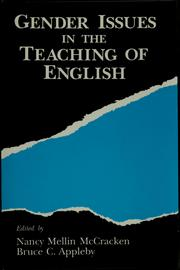 Cover of: Gender issues in the teaching of English | Bruce C. Appleby