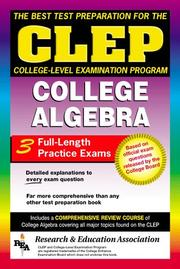 Cover of: CLEP College Algebra (REA) - The Best Test Prep for the CLEP Exam