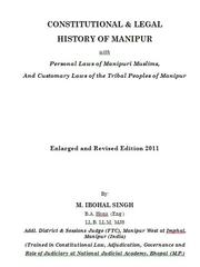 Constitutional & legal history of Manipur by M. Ibohal Singh
